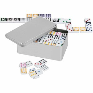 Domino dubber 12 in metalen box