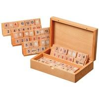 PHILOS Rummy cassette beech wood 22x14.5 cm