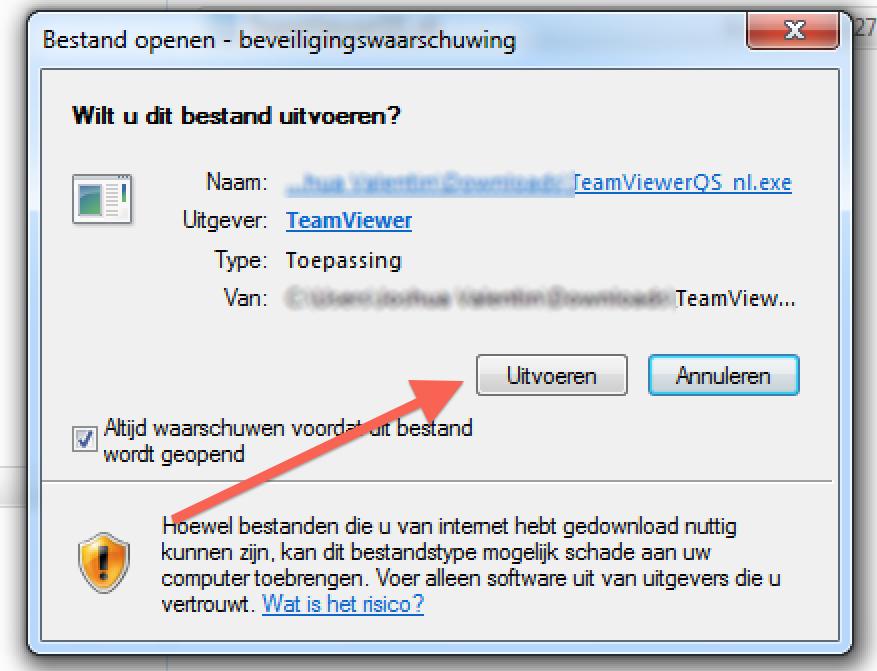 Teamviewer stap 4
