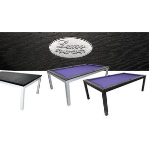 Pool table Lexor dinner black oak look
