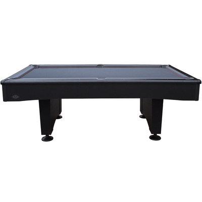 Pooltafel Buffalo Eliminator II.  mat zwart/laken grijs 7 en 8 foot