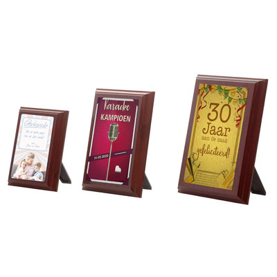 Wooden wall plate with stand D258