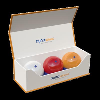 Free trial set of Carambole balls Dynaspheres Gold 615