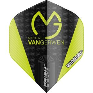 M. van Gerwen Prism Delta flight green with logo