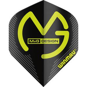 Winmau MvG Mega Standard flight zwart
