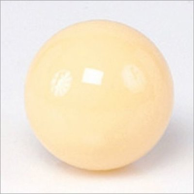 White ball for pool table with magnet