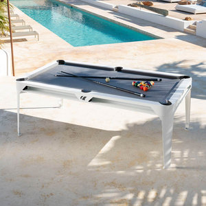 Bindestreg udendørs poolbord hvidt