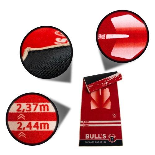 "BULL'S Dart-Mat ""180"" red"