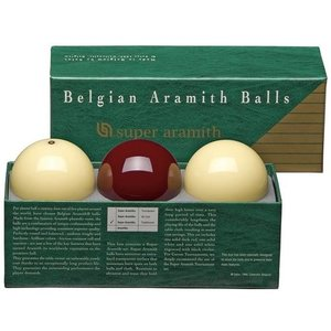 Carom balls Super Aramith dark red.