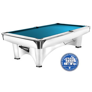Pool table Dynamic III satin gloss white 8 and 9 foot