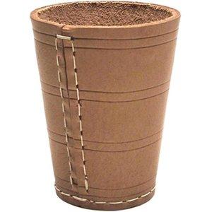 Dice cup 10cm leather