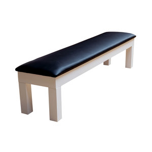 Bench with storage box color Glossy white