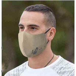 Mouth mask billiard player.