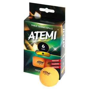 Atemi ping pong ballen oranje 1* (set 6)