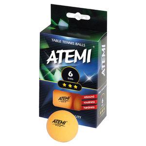 Atemi ping pong ballen oranje 3* (set 6)