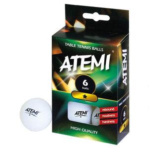 Atemi ping pong ballen wit 1* (set 6)