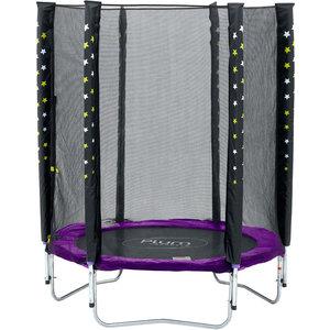 Plum trampoline Stardust with purple safety net
