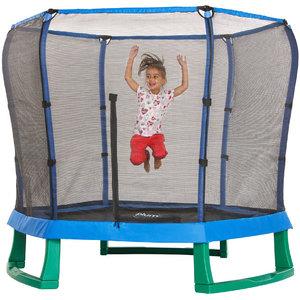 Plum trampoline Junior Jumper met veiligheidsnet blauw/groen 7ft