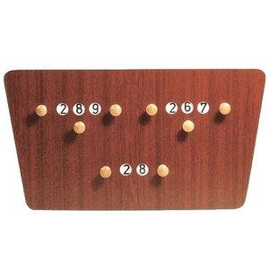 Billiard butterfly mahogany scoreboard