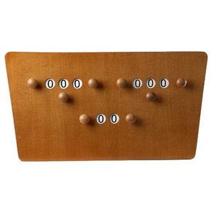 Billiard scoreboard butterfly Brown