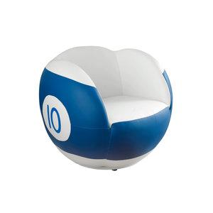 Chair No. 10 white-blue