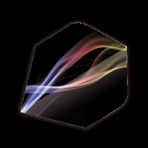 Unicorn flight zwart color wave