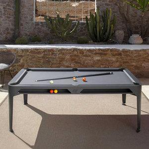 Bindestreg udendørs poolbord mørkegrå 6,5 fod