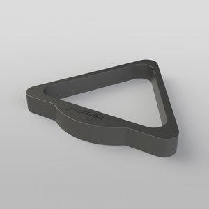 Triangel in materiaal en kleur Montfort