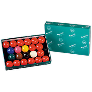 Aramith snooker balls in different sizes
