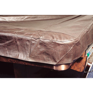 Pool table cover thick with stitched corners. Black