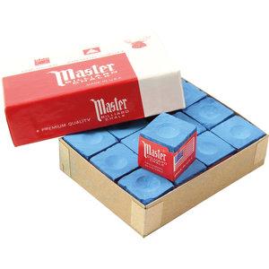 Master billiard chalk 12 pieces blue