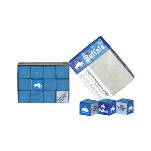 Buffalo billiard chalk blue (12 pieces)