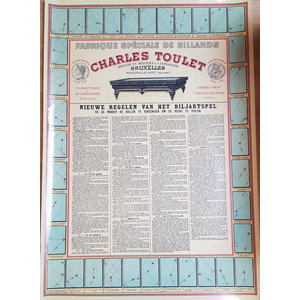 """Charles Toulet """"new rules of the billiard game"""""""