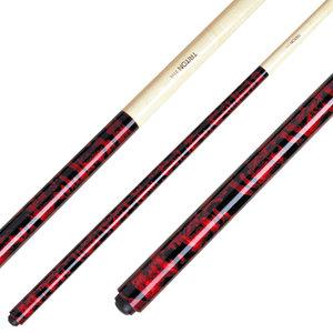 1-delig 145 cm. 13 mm plakpomerans Classic rood TRI-2