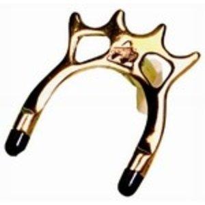 Brug hoog brass met restdopjes