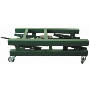 Lifting trolley for carom billiards