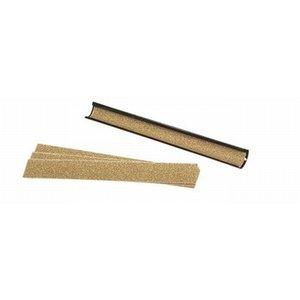 Pomerans file metal long. Including 3 strips of sandpaper