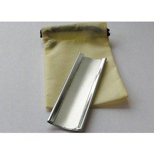 Sanding file around bare metal