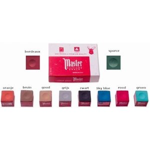 Master biljart krijt 12 stuks in diverse kleuren.