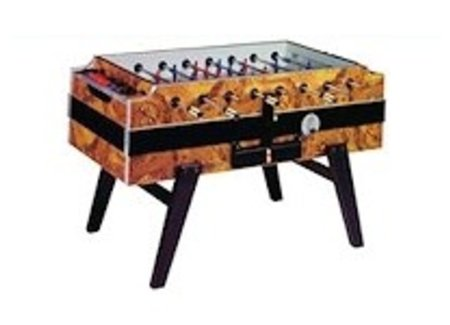 Football table with coin insert