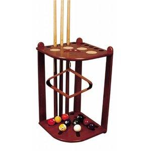 Corner standing cue rack Maple/brown