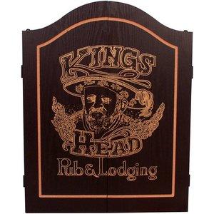 Dart cabinet Kings Head Black & Gold