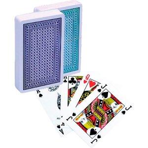 Poker kaarten Lion 100% plastic, Bridge