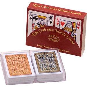 Poker kaarten Lion 100% plastic x2, Bridge