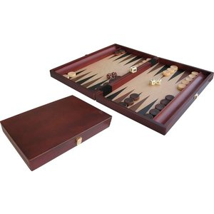 "Backgammon Wood Inl 15"" 35x24"