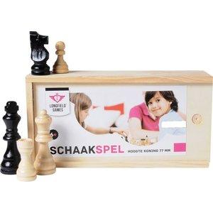 Longfield schaak stukken Set in Box 77m