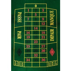 Roulette cloth 130 x 90