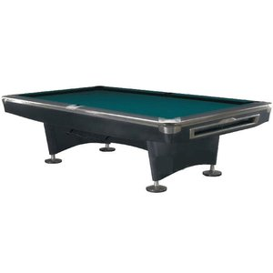Poolbiljart Competition Pro Black/RVS 9 foot