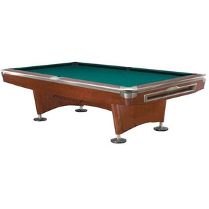 Pool billiard Competition Pro brown / stainless steel 9ft