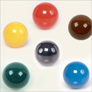 Colored snooker ball each 52.4 mm